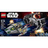 Vader's TIE Advanced vs. A-wing Starfighter