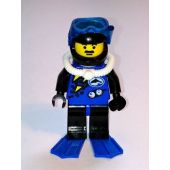 Divers - Blue, Black Helmet, Blue Flippers