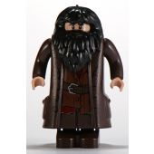 Hagrid, Dark Brown Topcoat with Buttons (Light Flesh Version with Moveable Hands)