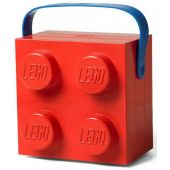 Lunch Box With Handle Bright Red